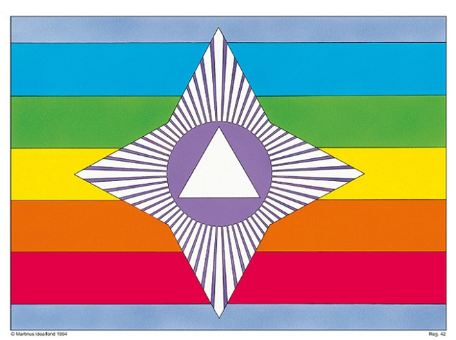Martinus sagens flag - symbol 42